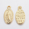 304 Stainless Steel Miraculous Medal CharmsX-STAS-F155-17G-2