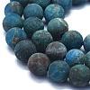 Natural Apatite Beads StrandsG-E561-03-8mm-3