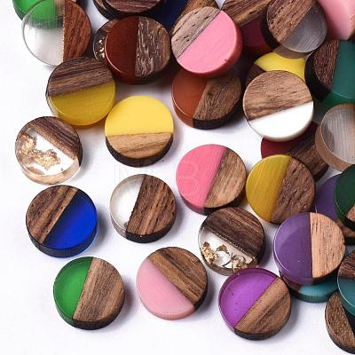 Resin & Walnut Wood CabochonsRESI-S358-70-1
