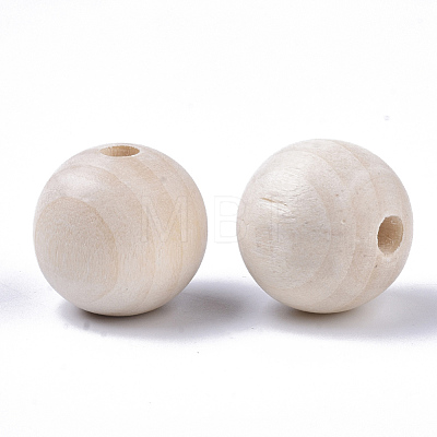 Natural Unfinished Wood BeadsWOOD-S651-A20mm-LF-1