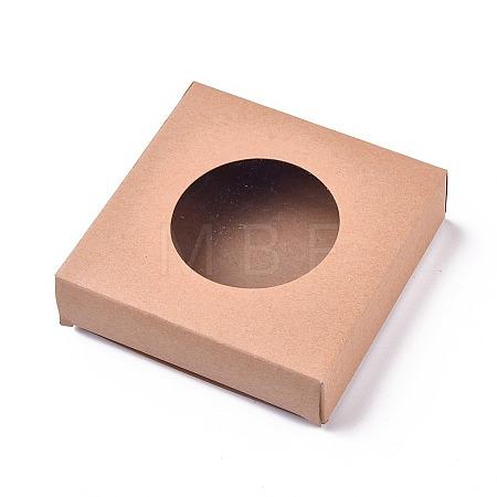 Foldable Kraft Paper BoxesCON-WH0068-63A-1