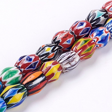 Handmade Lampwork Beaded NecklacesNJEW-P221-01-1