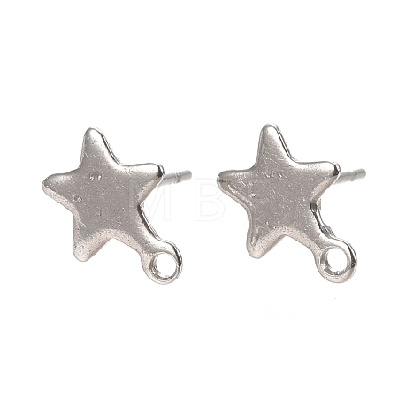 304 Stainless Steel Stud Earring Findings STAS-L238-078P-1