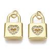 Valentine's Day Brass Micro Pave Cubic Zirconia CharmsZIRC-S067-016-NF-2