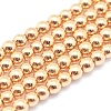 Electroplate Non-magnetic Synthetic Hematite Beads StrandsG-L485-01B-LG-1
