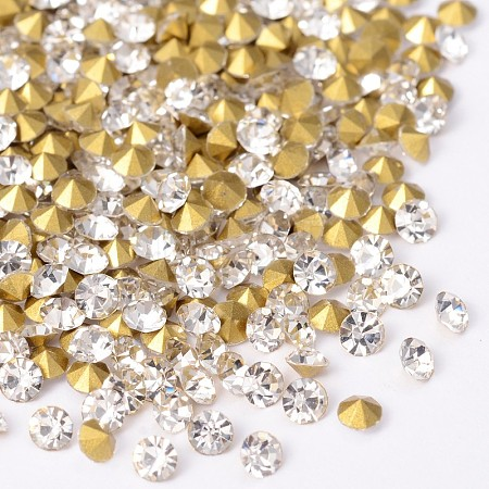 Back Plated Diamond Glass Pointed RhinestoneRGLA-SS0-001-1