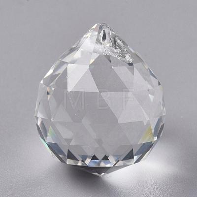 Transparent K9 Glass PendantsX-GLAA-WH0015-35B-1
