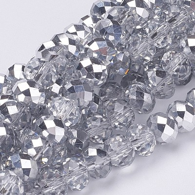 Electroplate Glass Bead Strands GR8MMY-07S-1
