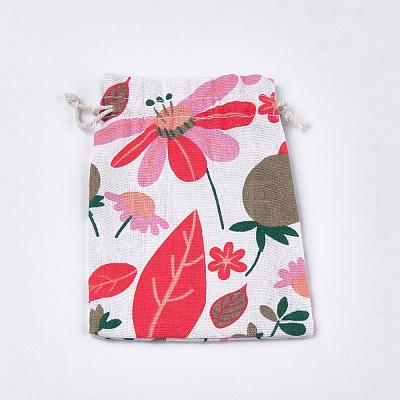 Polycotton(Polyester Cotton) Packing Pouches Drawstring BagsABAG-T007-02B-1