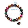 SUNNYCLUE® Natural Tiger Eye Round Beads Stretch BraceletsBJEW-PH0001-10mm-09-3