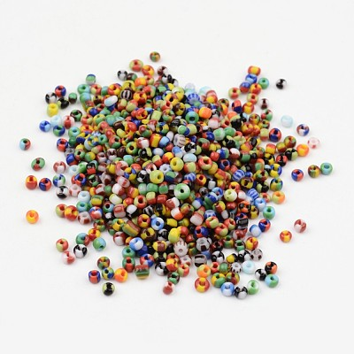 8/0 Opaque Colours Seep Glass Beads SEED-J019-01-1