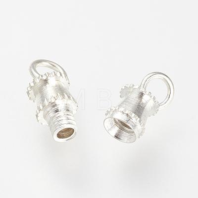 Brass Screw ClaspsX-KK-R037-179S-1