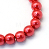 Baking Painted Pearlized Glass Pearl Round Bead StrandsHY-Q330-8mm-74-2