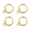 Brass Huggie Hoop Earring FindingsKK-L179-04G-1