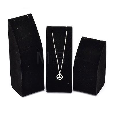 Wood Necklace Rectangle DisplaysNDIS-L001-12B-1