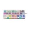 24 Colors Glass BeadsGLAA-JP0001-12-2
