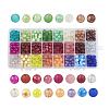 24 Colors Glass BeadsGLAA-JP0001-12-1