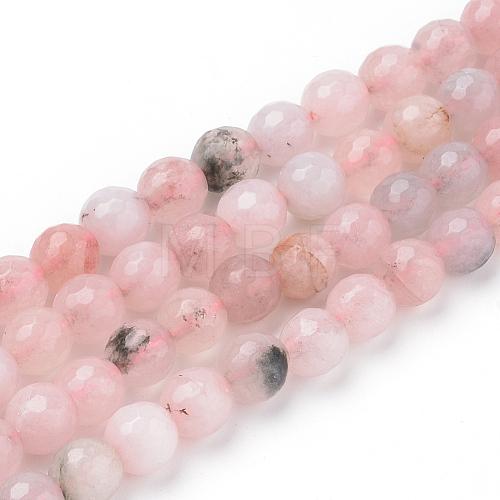 Natural Cherry Blossom Jasper Beads StrandsX-G-Q462-120-8mm-1