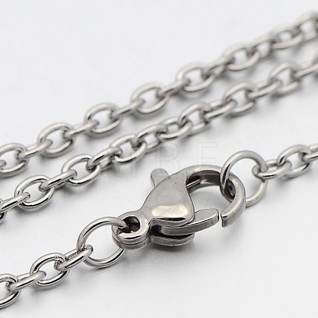 304 Stainless Steel Cable Chain NecklacesSTAS-O053-11P-1