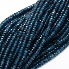 Dyed Natural Malaysia Jade Rondelle Beads StrandsG-E316-2x4mm-19-1