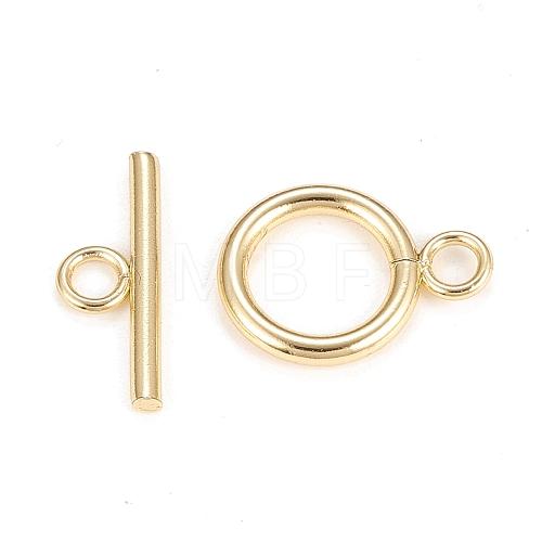 Brass Toggle ClaspsKK-Q765-01G-1